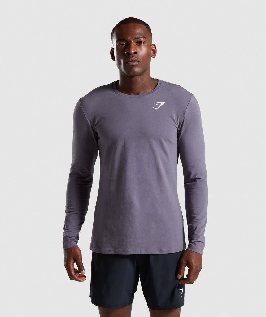 Gymshark Critical Long Sleeve T-Shirt - Slate Grey 1