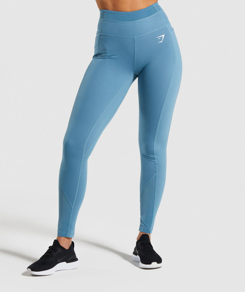 Gymshark Dreamy Mesh Leggings - Teal 1