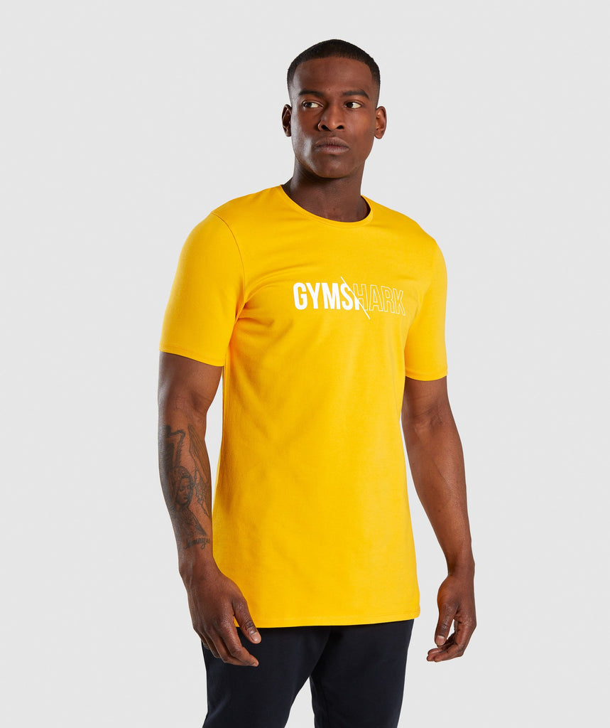 Gymshark Distort T-Shirt - Citrus Yellow 4