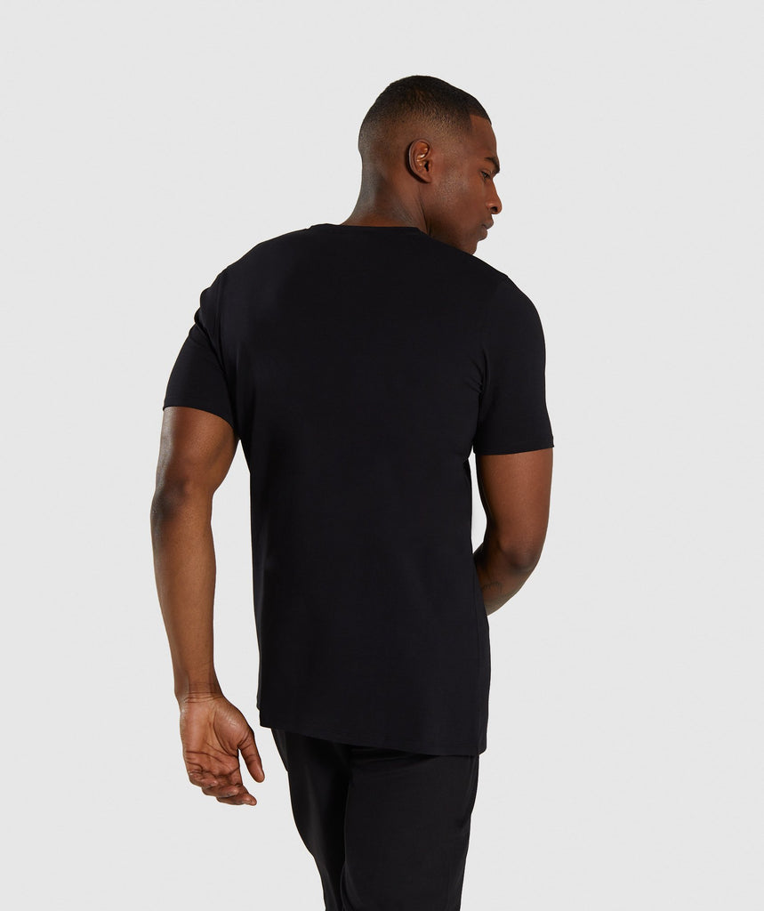 Gymshark Divide T-Shirt - Black 2