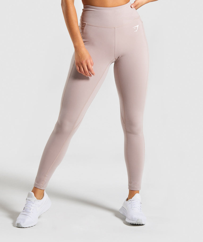 Gymshark Dreamy Leggings - Taupe/white 1