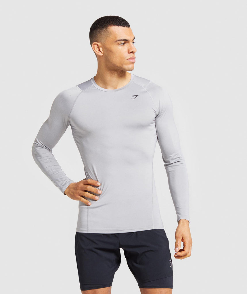 Gymshark Element Baselayer Long Sleeve T-Shirt - Light Grey 1