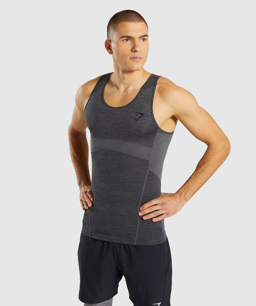 Gymshark Element+ Baselayer Tank - Black Marl 1
