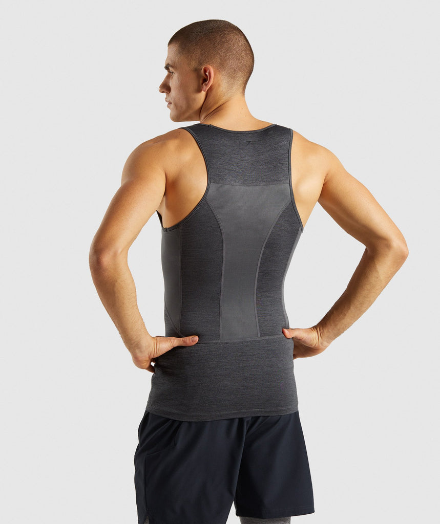 Gymshark Element+ Baselayer Tank - Black Marl 2