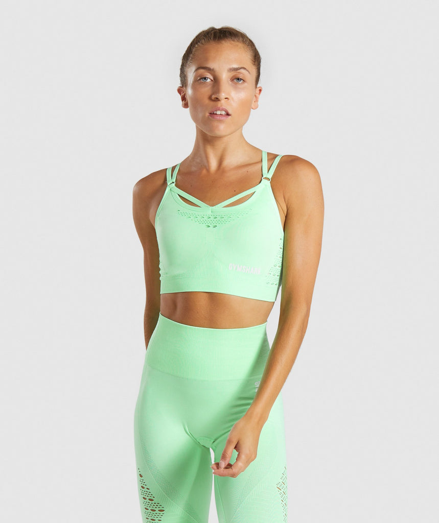 Gymshark Energy+ Seamless Sports Bra - Mint 1