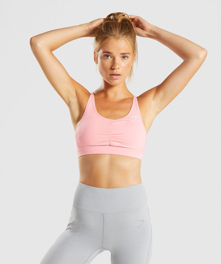 Gymshark Ease Sports Bra - Peach Pink 1