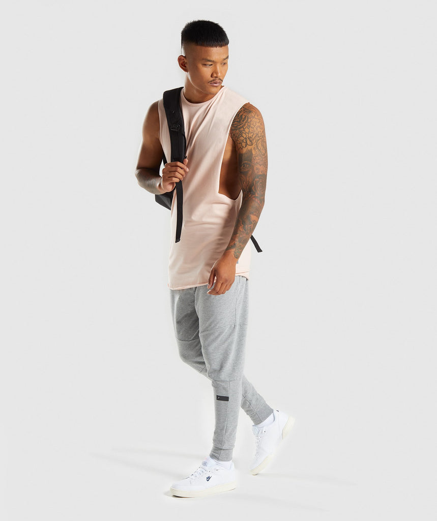 Gymshark Eaze Sleeveless T-Shirt - Blush Nude 6