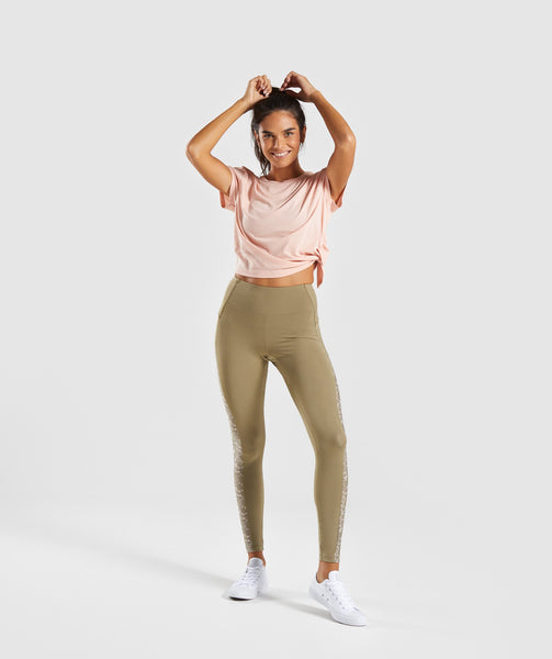 Gymshark Efflux Leggings - Washed Khaki 3