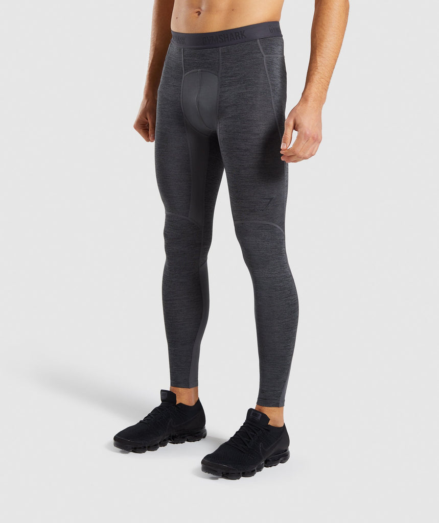 Gymshark Element+ Baselayer Leggings - Black Marl 1