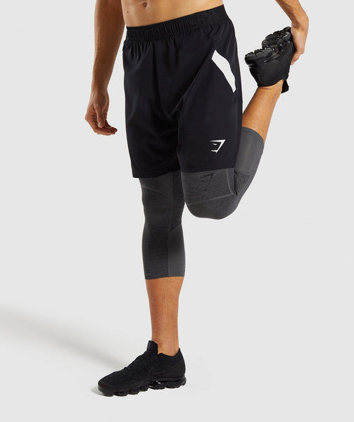 Gymshark Element+ Baselayer 3/4 Leggings - Black Marl 2