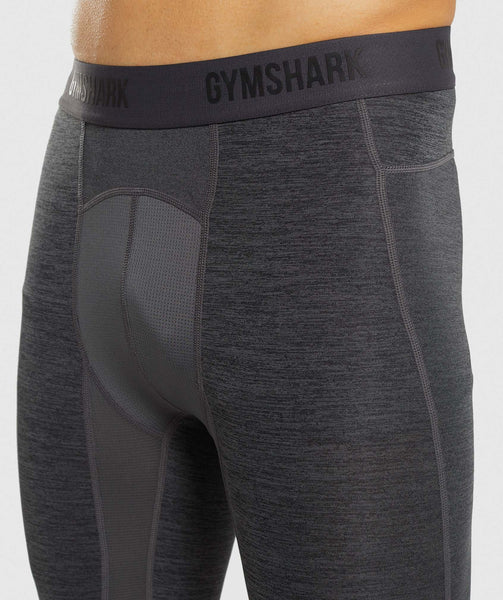 Gymshark Element+ Baselayer 3/4 Leggings - Black Marl 4