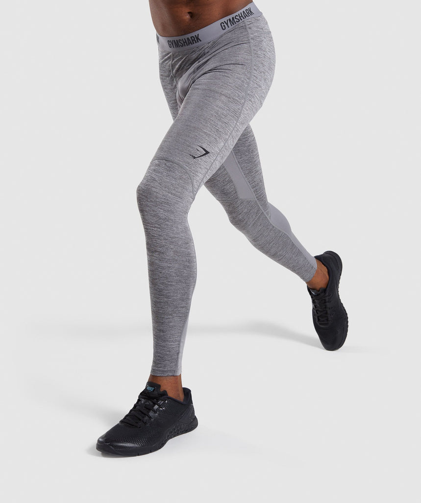 Gymshark Element+ Baselayer Leggings - Smokey Grey Marl 1