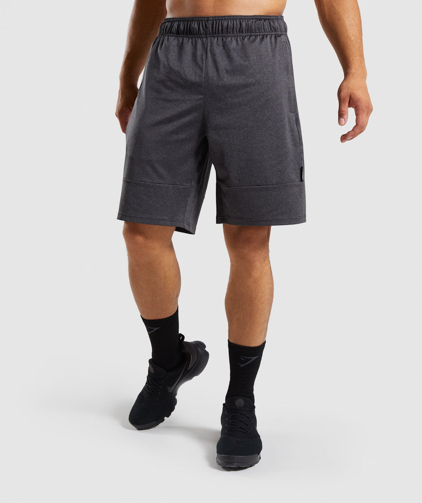 Gymshark Element Shorts - Black Marl 1