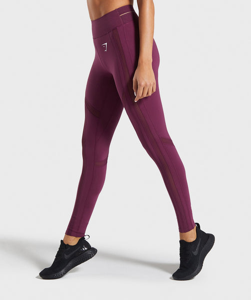 Gymshark Embody Leggings - Dark Ruby 2