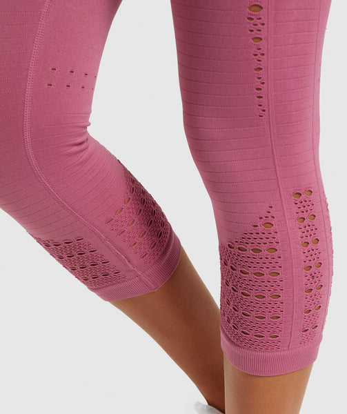 Gymshark Energy+ Seamless Cropped Leggings - Dusky Pink 4