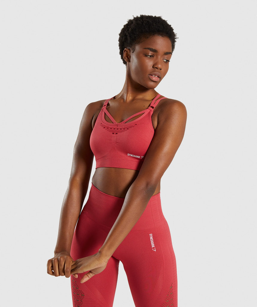 Gymshark Energy+ Seamless Sports Bra - Red 4
