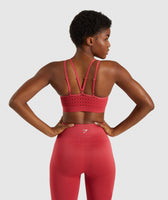 Gymshark Energy+ Seamless Sports Bra - Red 8
