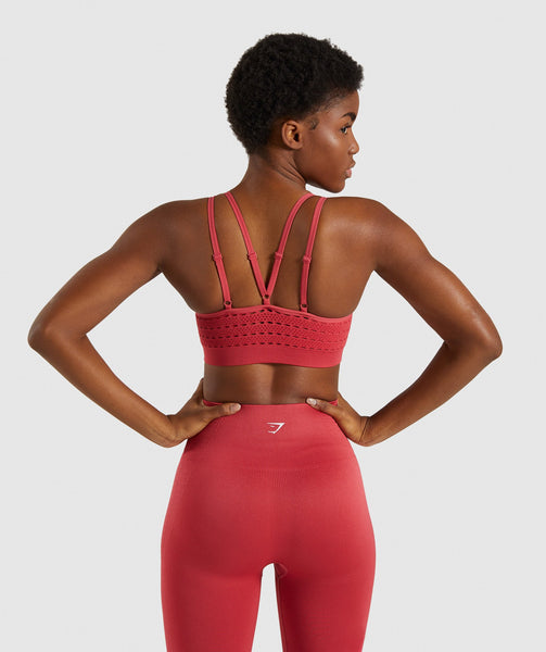 Gymshark Energy+ Seamless Sports Bra - Red 1