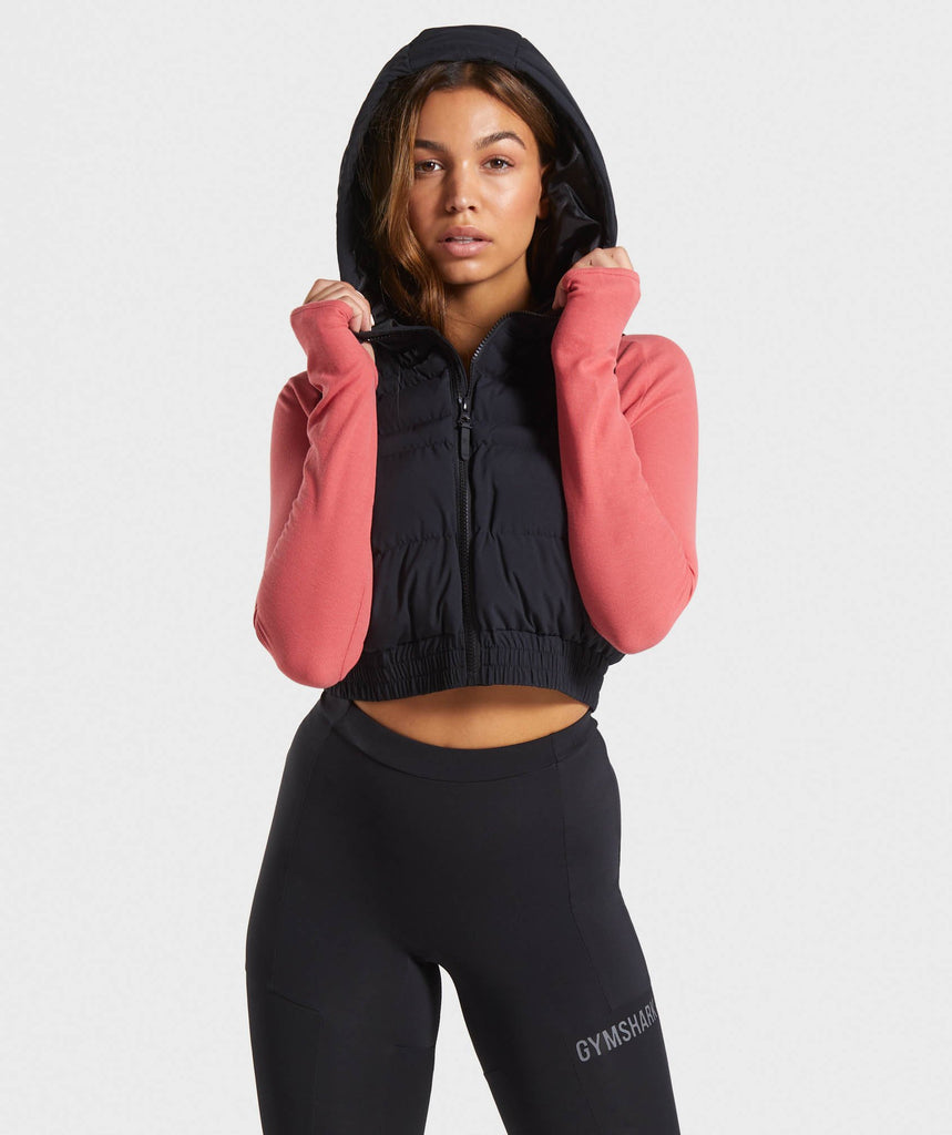 Gymshark Essential Crop Gilet - Black 1