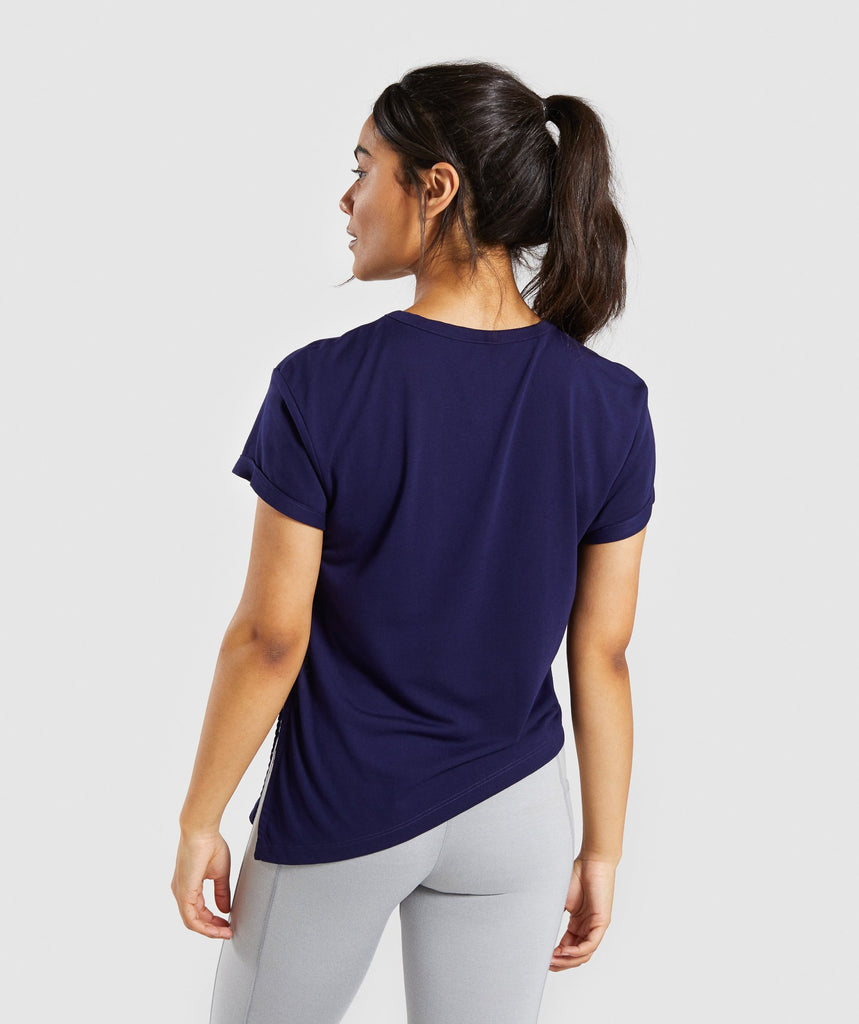 Gymshark Essential Tee - Evening Navy Blue 2