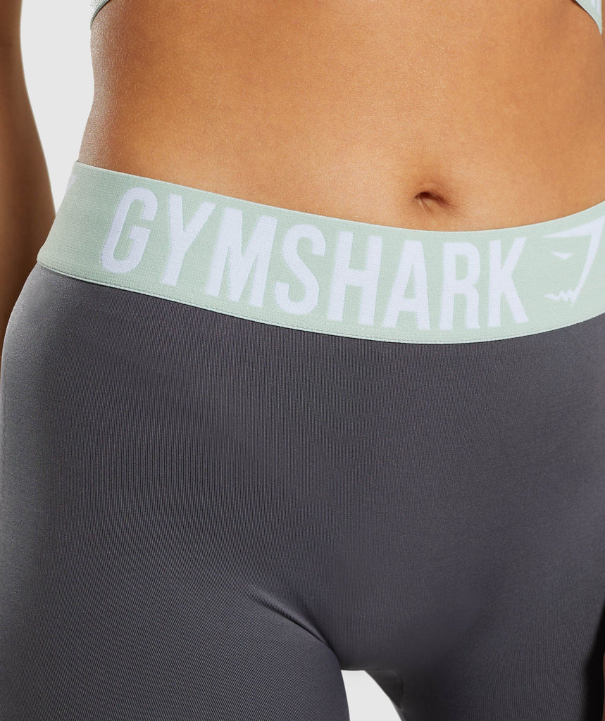 Gymshark Fit Leggings - Grey/Light Green 5