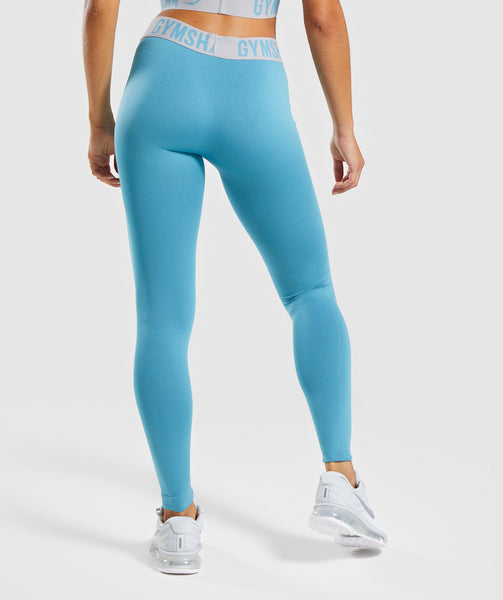 Gymshark Fit Leggings - Dusky Teal/Light Grey 1
