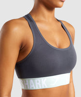 Gymshark Fit Sports Bra - Grey/Light Green 11