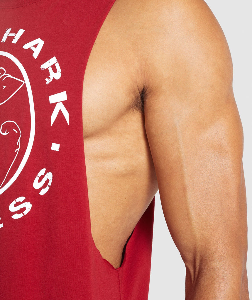 Gymshark Legacy Drop Armhole Tank - Full Red 5