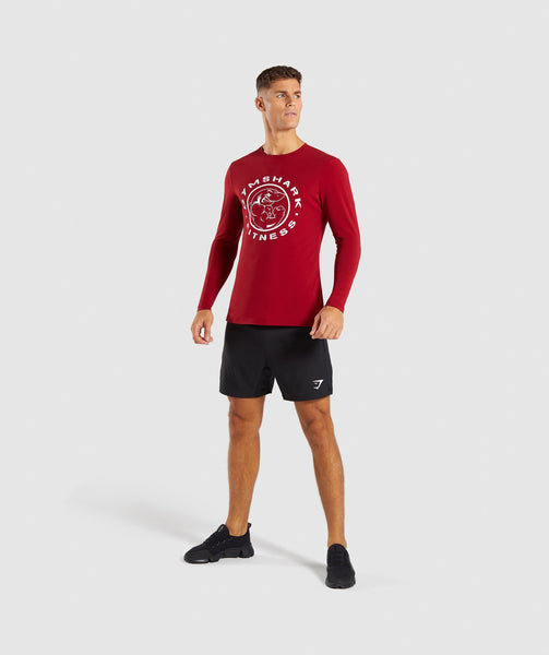 Gymshark Legacy Long Sleeve T-Shirt - Full Red 3