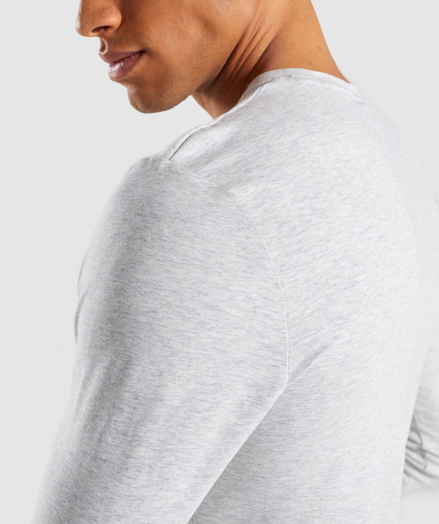Gymshark Legacy Long Sleeve T-Shirt - Wolf Grey Marl 6
