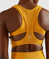 Gymshark Flawless Knit Sports Bra - Yellow 12