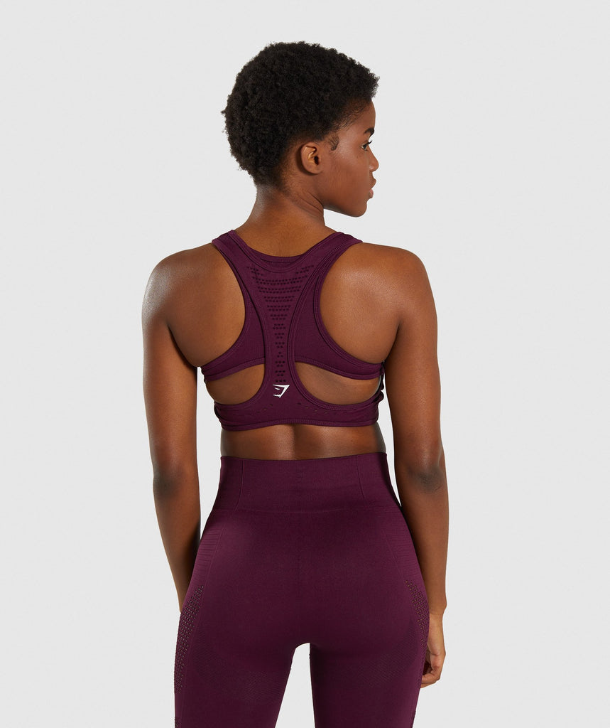 Gymshark Flawless Knit Sports Bra - Ruby 2