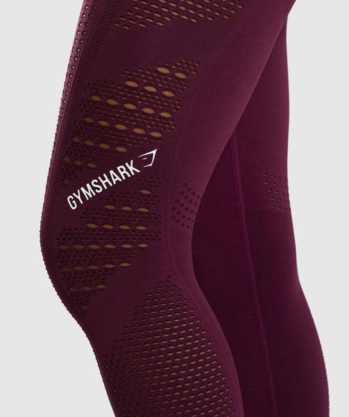 Gymshark Flawless Knit Tights - Ruby 4