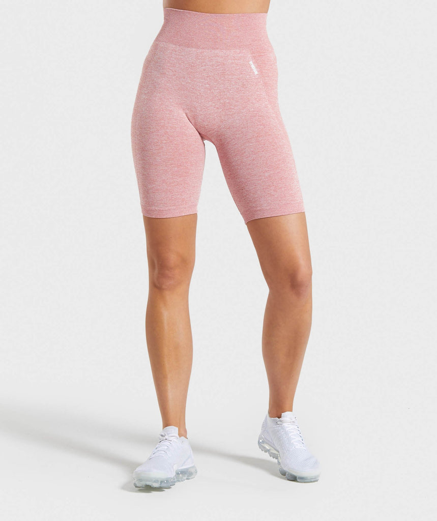 Gymshark Flex Cycling Shorts - Pink/White 1