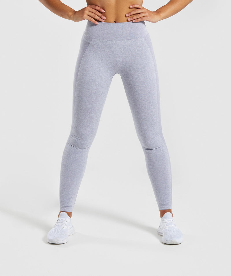 Gymshark Flex High Waisted Leggings - Blue/Grey