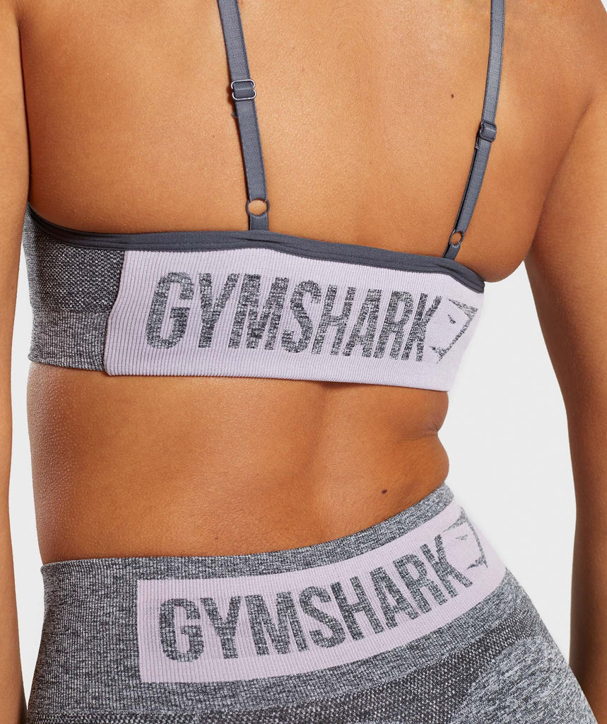 Gymshark Flex Strappy Sports Bra - Grey/Pink 6