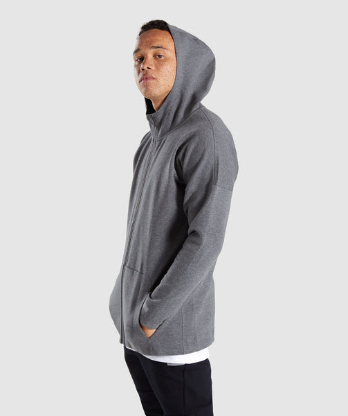 Gymshark Fully Fused Zip Hoodie - Charcoal Marl 4