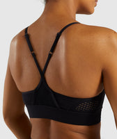 Gymshark Geo Mesh Sports Bra - Black 11
