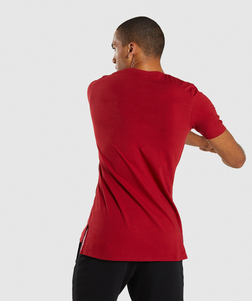 Gymshark Central T-Shirt - Full Red 2