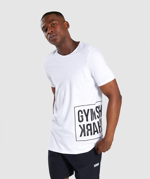Gymshark Mirror T-Shirt - White 4