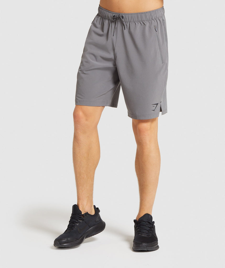 "Gymshark Element Hiit 9"" Shorts - Grey 1"