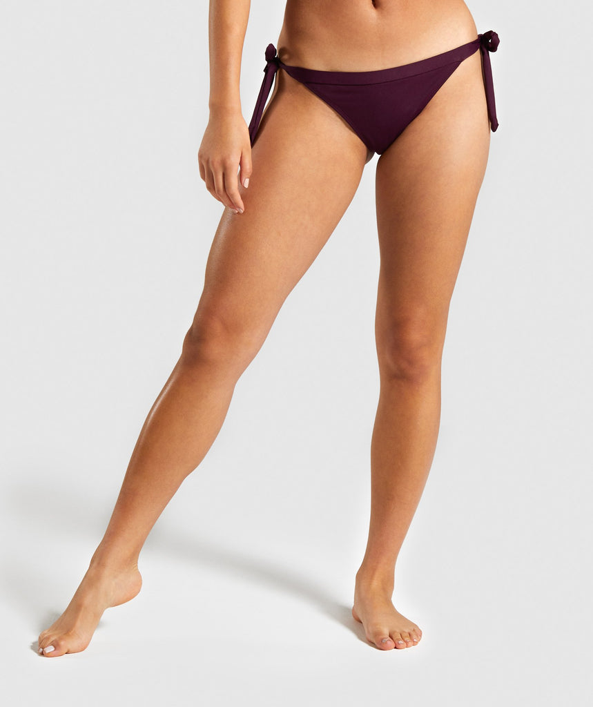 Gymshark Horizon Bikini Bottoms - Berry Red 1