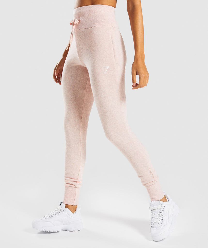 Gymshark High Waisted Joggers - Blush Nude Marl 1