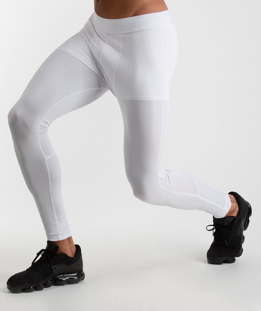 Gymshark Element Baselayer Leggings - White 1