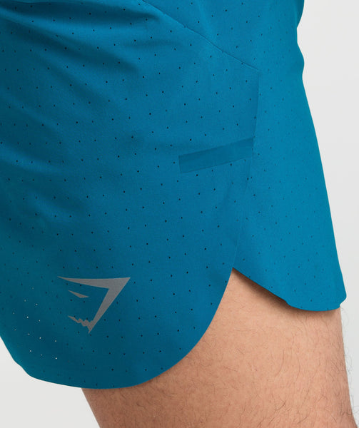 Gymshark Perforated Shorts - Deep Teal 4