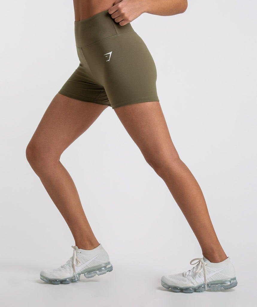 Gymshark Dreamy High Waisted Shorts - Khaki 2