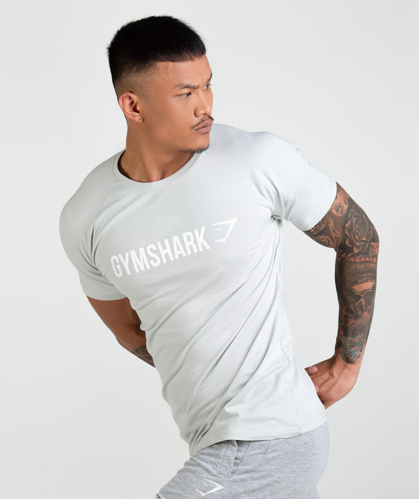 Gymshark Apollo T-Shirt - Pastel Green/White 1