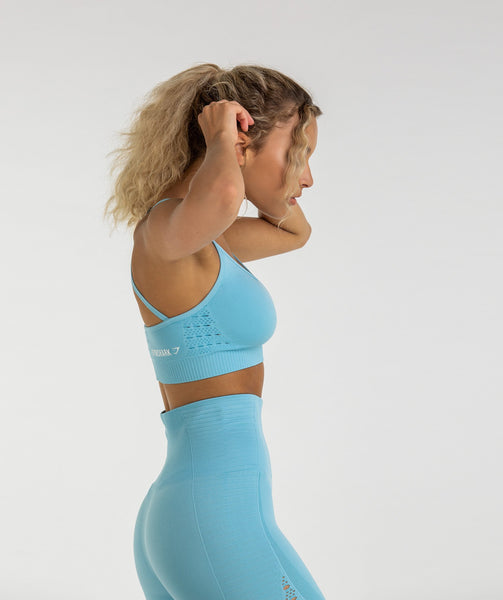 Gymshark Energy Seamless Sports Bra - Sky Blue 1