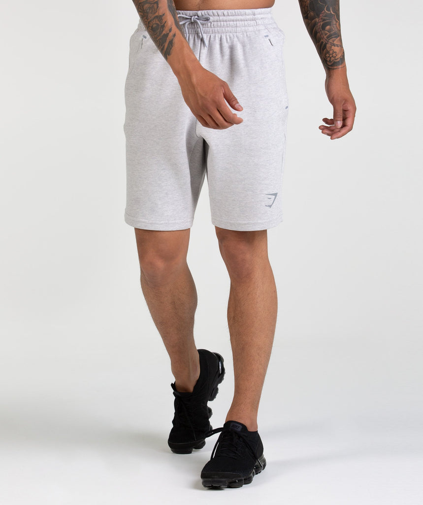 Gymshark Ozone Shorts - Light Grey Marl 1