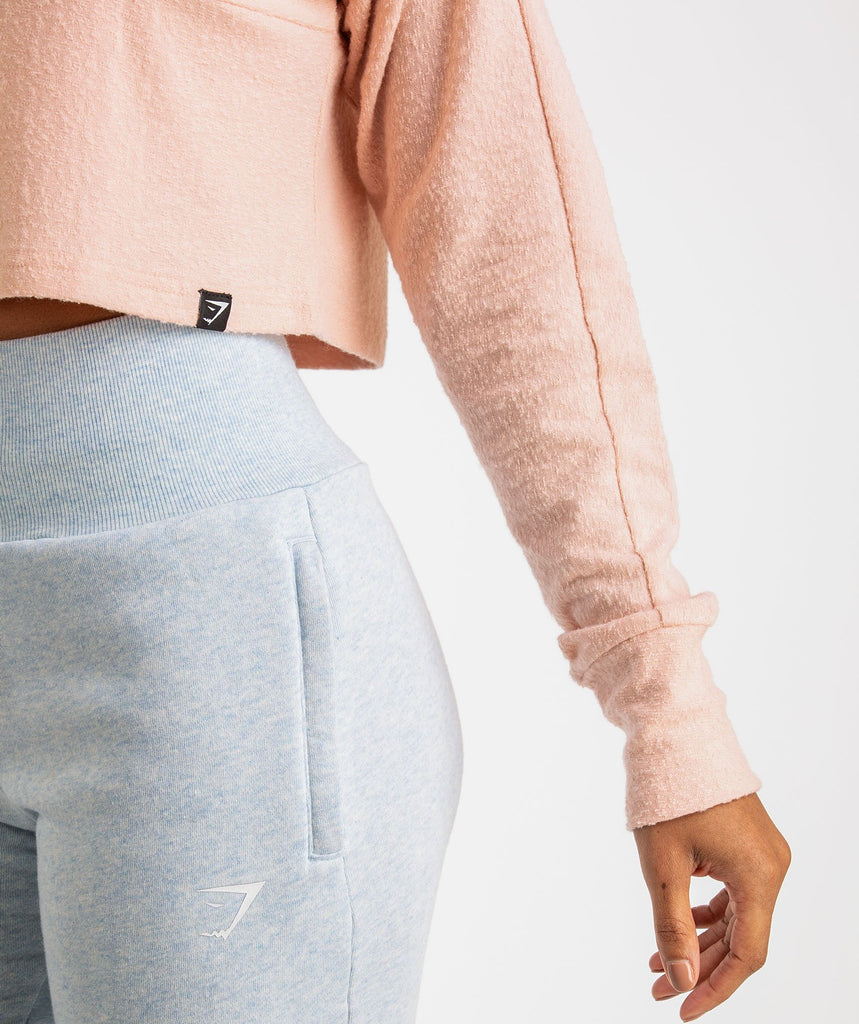 Gymshark Towel Sweater - Blush Nude 6